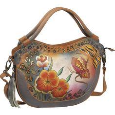 Anuschka Medium Convertible & Expandable Hobo- Incredible Ikat, (anuschka, hand painted handbag, handbags, large, large hobo, leopard, rouched, anuschka pleated hobo tribal bloom, anuschka pleated hobo tribal bloom   leather  handbags, handbags purse hand painted), via http://myamzn.heroku.com/go/B005HBC4V0/Anuschka-Medium-Convertible-Expandable-Hobo-Incredible-Ikat