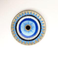 Evil Eye Decor - Decorative Plate - Blue Evil Eye - Golden Evil Eye - Evil Eye Wall Art - Modern Art - Wall Hanging - Blue Greek Evil Eye by biancafreitas on Etsy