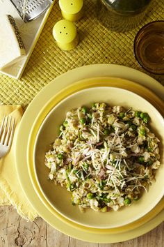 Oat Risotto from Sean Brock.  Just adjust the cheese downwards and ramp up the veggies. GREAT idea!