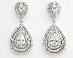 Wedding Earrings Bridal Earrings Cubic door BeYourselfJewelry