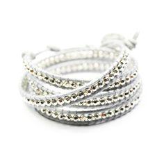 Wrap Bracelet Gray Silver