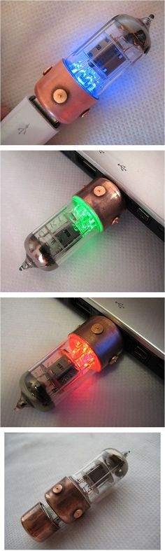 Pentode Radio Tube USB Drive. Love this and we have the blue one