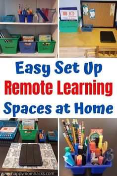 Kids School Organization, Learning Organization, Organization Ideas, Homework Organization, Learning Stations, Learning Spaces, Home Learning, Learning Environments, Learning Resources