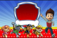 Banner, poster, card or even an invitation possible idea Paw Patrol Cake, Paw Patrol Party, Paw Patrol Birthday, Paw Patrol Rocky, 3rd Birthday, Birthday Parties, Cake Frame, Cumple Paw Patrol, Paw Patrol Invitations