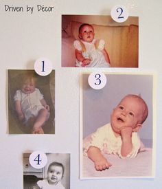 """""""Name That Baby"""" shower game...a great party starter activity. Might be a good idea to have some stick on name tags in case everyone doesn't know each other."""