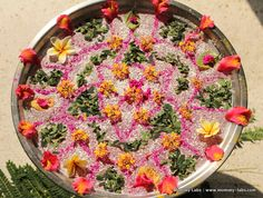 How to make floating Rangoli for Diwali using natural materials, they are beautiful