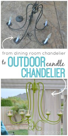DIY Outdoor Chandelier {progress in the outdoor living room}