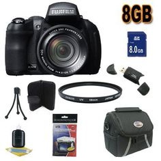 Fujifilm FinePix HS30XR 16 MP Digital Camera Accessory Saver 8GB Bundle !!! (Black) by Fuji. $354.89. This Kit Includes: 1- Fujifilm FinePix HS30EXR 16 MP Digital Camera brand New w/ Manufacturer's Supplied Accessories 1- 8GB SDHC Memory Card (Dont Miss a Memory!) 1- 58mm Multi Coated UV Filters (Protect Your Lens!) 1- USB SDHC Memory Card Reader (Download Images Quicker!) 1- Padded Carrying Case w/Strap (Keep It safe and Protected) 1- Memory Card Wallet (Stay ...