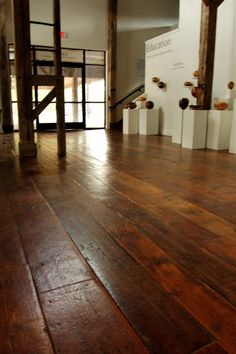 100 year old tabacco barn wood floors...Gorgeous!