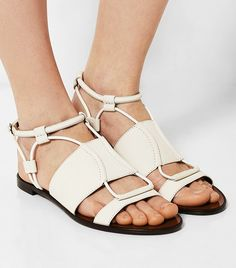 Textured-Leather Sandals via @WhoWhatWear