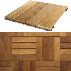 Create a new top quality patio for your home with these easy-to-use DIY snap-in tiles. These interlocking Brazilian wood tiles are a quick home flooring solution. The tiles can be un-snapped and reuse