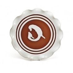 "12"" Curly Plate Pottery Shop, Handmade Pottery, Irish Pottery, Earthenware, Plates, Curly, Life, Licence Plates, Handmade Ceramic"