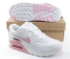 super popular 50a90 76f43 Dam Nike Air Max 90 Vit Ljusrosa Running Shoes Nike, Nike Free Shoes,