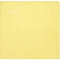 Eton Cotton-silk polka dot pocket square ($48) ❤ liked on Polyvore featuring men's fashion, men's accessories, handkerchiefs and yellow
