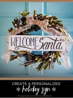 DIY 'Welcome Santa'