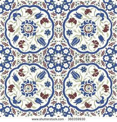 Traditional Arabic ornament seamless for your design. Floral ornamental seamless pattern for ceramic tile, desktop wallpaper, interior decoration, wrapping paper, graphic design and textile. Moroccan Art, Turkish Art, Arabesque, Ornament Pattern, Blue Pottery, Islamic Art, Royalty Free Images, Print Patterns, Graphic Design