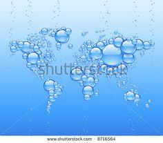 Vector worldmap made of bubbles - stock vector
