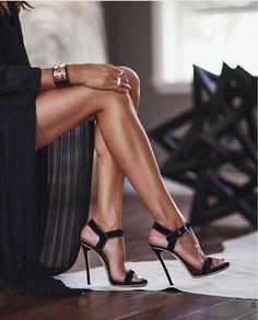 Sexy black high heels www.ScarlettAvery.com