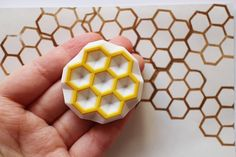 beehive rubber stamp. hand carved rubber stamp. hand carved stamp. honey comb. hexagon pattern stamp. geometric shape. craft projects. on Etsy, $14.23 AUD