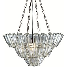 Eco chic glass bottle chandalier
