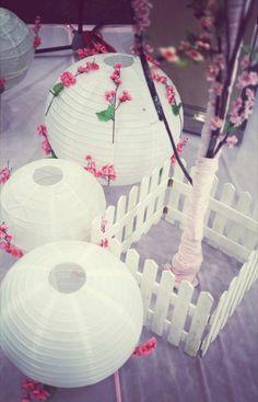 decor wedding 2011 pink sakura with paper lanterns Cherry Blossom Wedding, Sakura Cherry Blossom, Decor Wedding, Wedding Decorations, Wedding Ideas, Japanese Wedding, Wedding Kimono, Sweet Couple, Paper Lanterns
