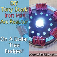 Tony Stark DIY Iron Man Arc Reactor on a Dollar Tree Budget (oh yeah, you can totally make this!)