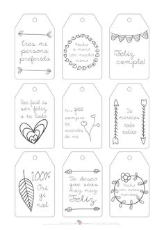 Doodle for Notebook. Diy And Crafts, Paper Crafts, Little Presents, Girls Accessories, Boyfriend Gifts, Diy Gifts, Gift Tags, Hand Lettering, Free Printables