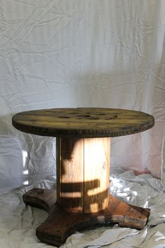 Wire Reel Tables by JacksonWoodcraft on Etsy, $250.00