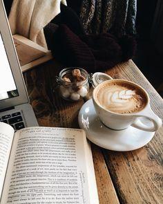 coffee - Book and Coffee Book And Coffee, But First Coffee, I Love Coffee, Coffee Cafe, Coffee Break, Coffee Drinks, Morning Coffee, Coffee Mornings, Fresh Coffee