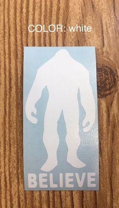 Yeti Big Foot vinyl decal, sticker, Pacific North West, car decal, car accessory, laptop sticker, yeti sticker, water bottle sticker, gift by TaylorMadeTreasureUS on Etsy
