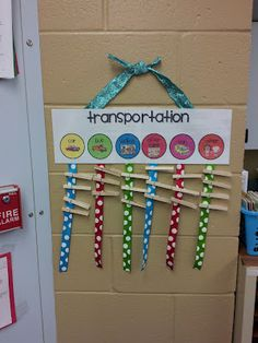 I like being able to change the chart easily day by day as student transportation changes.