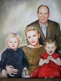 PRINCE ALBERT & PRINCESS CHARLENE WITH THEIR TWINS --JACQUES & GABRIELLA .....MONACO'S ROYALS....BEAUTIFUL FAMILY...............