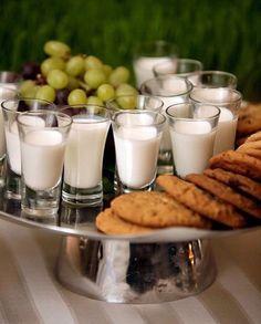 Cookies and milk shots