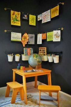 craft area for kids ~ craft area . craft area for kids . craft area in living room . craft area in bedroom . craft area in basement Kids Corner, Craft Corner, Corner Space, Kitchen Corner, Diy Kitchen, Corner Bench, Room Corner, Corner Wall, Small Corner