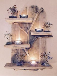 Rustic Shabby Chic, Rustic Decor, Farmhouse Decor, Driftwood Furniture, Driftwood Crafts, Handmade Home, Vasos Vintage, Pinterest Home, European Home Decor