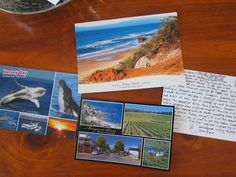 Easy Postcard Project For Travel Memories (buy a postcard, write a quick description!)