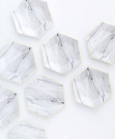 Carrara Marble Party Plates