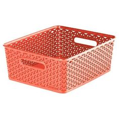 Y Weave Medium Storage Bin - Coral - Room Essentials™