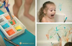 Fabriquer sa peinture de bain | Berceau Magique Montessori, Projects To Try, Animation, Activities, Diy, Couture, Stickers, Halloween, Manualidades