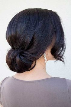 Long Dark Hair Updo Hairstyles for Bridesmaids