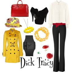 """Dick Tracy"" by kerogenki on Polyvore"