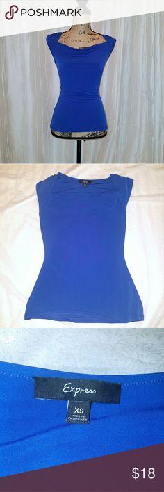 Cobalt blue blouse Beautiful cobalt blue, sleeveless from express Express Tops Blouses