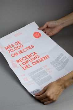 DHUB leaflet with neon ink print treatment designed by Lo Siento.