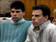 Erik and Lyle Menendez, the notorious brothers convicted of brutally murdering their rich parents, Jose and Kitty Menendez, in their Beverly Hills home in 1989. It was later proven that the Menendez brothers had planned the killings for weeks. At trial, Erik and Lyle unsuccessfully claimed self-defense and abuse, and were sentenced to life in prison in 1996