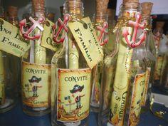 Convite Piratas Garrafinha Com 10 Unidades! - R$ 69,90 no MercadoLivre