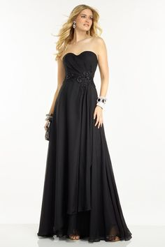 2016 Sweetheart Black Chiffon Appliques Zipper Floor Length Sleeveless Ruched Evening / Prom Dresses 1601181125