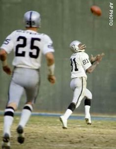 Fred Biletnikoff & Warren Wells--WELLS WAS TOUGH TO BEAT..THE ONLY THING THAT COULD BEAT WELLS WAS HIS DUI'S..