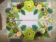 Shades of green paper flowers by GelleDIY Hand-made Paper Flower by GelleDIY #Nursepreneur #sideline #Passion PM me for inquiries