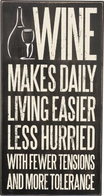 Item # 29800 | Box Sign - Wine Makes | Primitives by Kathy