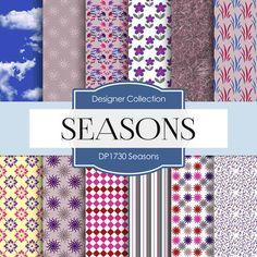 Seasons Digital Paper DP1730 - Digital Paper Shop - 1